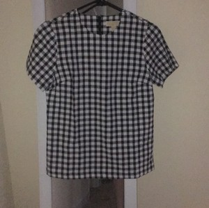 MICHAEL Michael Kors Gingham Top Black and White