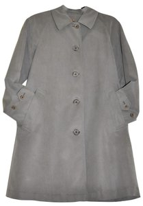 Burberry Silky Viscose Trench Vintage Light Single Breasted Trench Coat