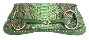 Gucci Python Forest Green Clutch