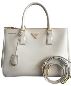 Prada Saffiano Leather Tote in White