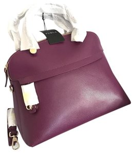Furla Leather Handbag Satchel in Purple