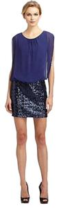 Aidan Mattox Blouson Sequin Dress