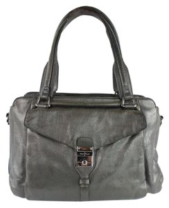 Cole Haan Leather Pewter Handbag Shoulder Bag