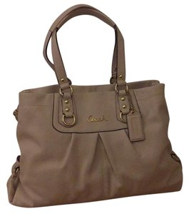 Coach Satchel in Light Beige