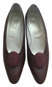 Robert Clergerie France Chic French Fashion Brown Burgundy Pumps