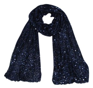 Roberta Roller Rabbit Mazrani Navy Blue Sequined Scarf