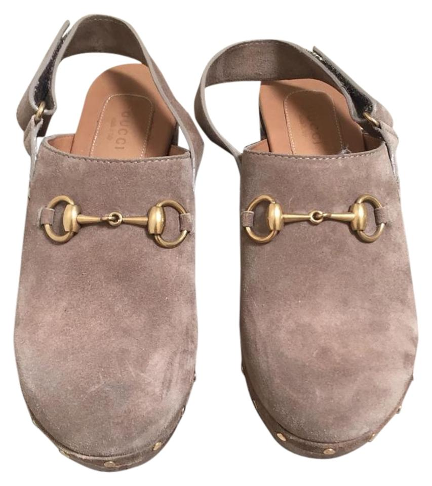 d4084c192e8 Gucci Taupe Amstel Suede Mules/Slides Size US 8.5 Regular (M, B) 23% off  retail