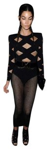 Balmain x H&M Knit Bodysuit Top Black