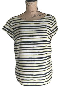 Ann Taylor LOFT Top White, black, yellow