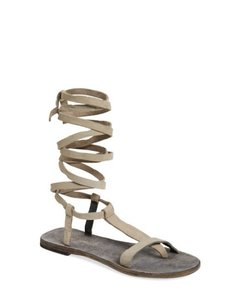 Free People Current 2016 People Dahlia Flat Gladiator 38 Dove Gray Sandals