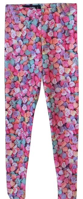 Item - Multicolor Candy Hearts Toasties Leggings Size 12 (L, 32, 33)