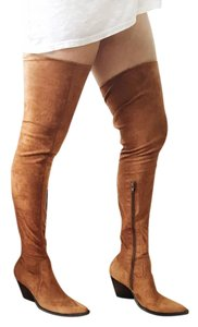 Jeffrey Campbell Suede Fall Boot cognac Boots