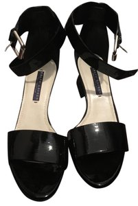 Ralph Lauren Collection Patent Leather Leather Black Sandals