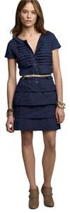 J.Crew short dress Navy Ruffle on Tradesy
