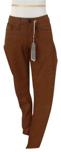 G-Star RAW 74% Algodao 24% Nylon 2% Elastic Made In India Washable Cold Skinny Pants Rust terra cotta orange