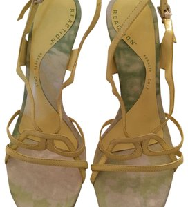 Kenneth Cole Reaction Strappy Yellow Platforms