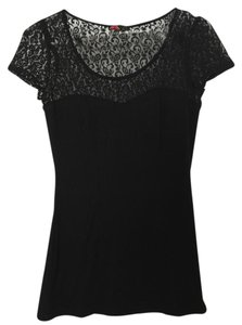 Forever 21 21 Sheer T Shirt Black