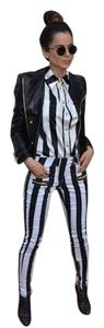 Balmain x H&M NWT Straight Pants Black & White