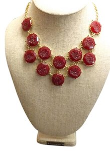 Drusy Set Beautiful Drusy Style Ruby Stone Set
