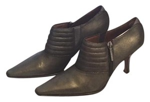 Donald J. Pliner Metallic Padded Footbed Pewter Boots