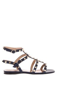Valentino Leather Rockstud Marine Sandals