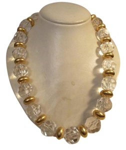 Givenchy vintage chunky faceted clear acrylic beaded