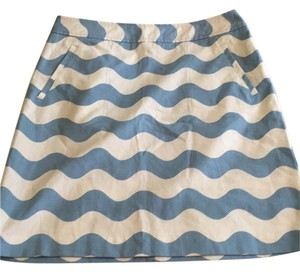 J.McLaughlin Skirt Blue white