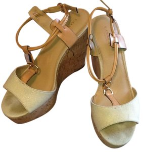 Coach Beige Wedges