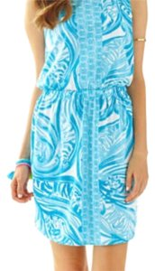Lilly Pulitzer short dress Blue white on Tradesy