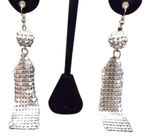 Mesh Earrings Super Lightweight Silver Mesh Earrings!