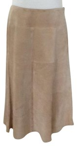 Jones New York Soft Leather Made In China Dry Clean Skirt Tan