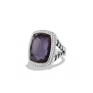 David Yurman Albion Cocktail Ring with Black Orchid and Diamonds