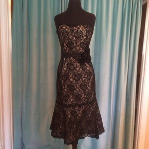 Andrew Adela Black/Champagne Dress