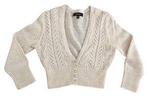 Express Gold Ivory Cropped Shrug Cardigan