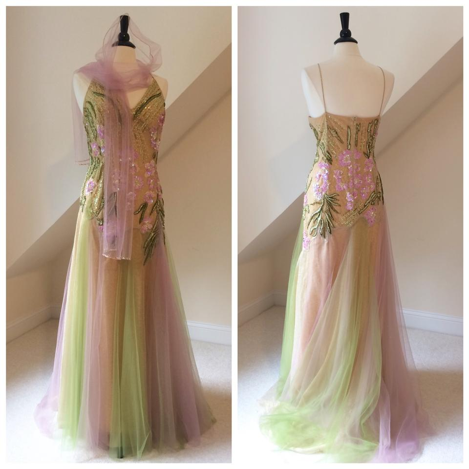 fb00722f552 Marina Pastel Pink Green Formal Dress. Size  18 (XL ...