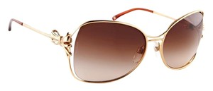 Chanel New Chanel 4180 Gold-tone Bow Tie Butterfly Women's Sunglasses