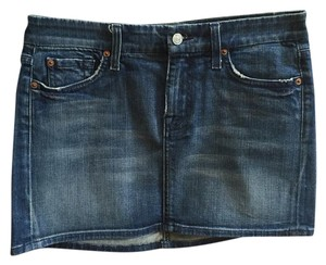 7 For All Mankind Mini Skirt Blue