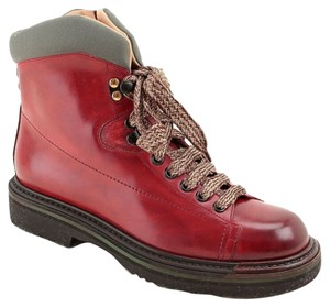 Santoni Leather Made In Italy Royal Red Boots