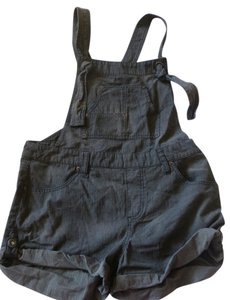 Free People Overalls Suspenders New Cuffed Shorts Gray