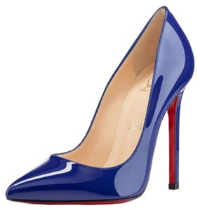Christian Louboutin Pigalle 120 Pointed Blue Pumps