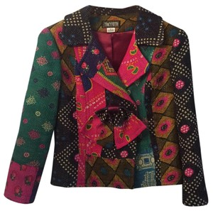 Tracyfeith Multicolor: pink, black, green and purple. Jacket