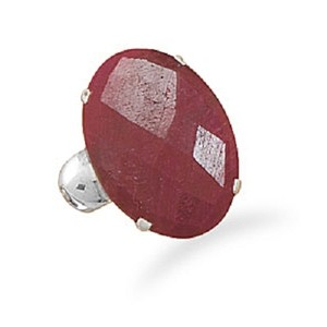 Other Sterling Silver Ruby Ring