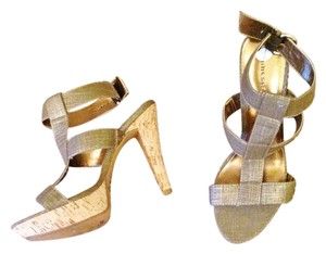 Chinese Laundry Stiletto Sandal Metallic Gold Gold/ metallic Platforms