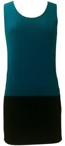 Issey Miyake short dress Teal & Black on Tradesy