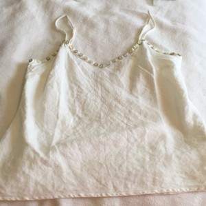 Cut Loose Linen Linen Linen Blouse Top White