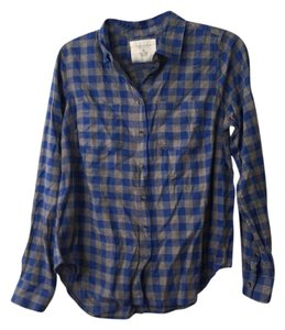 Sonoma Button Down Shirt Grey and blue