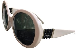 Chanel New Chanel 5159-H White Perle Pearl Round Women's Sunglasses