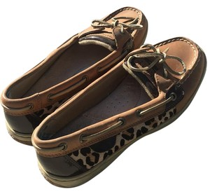 Sperry Brown and cheetah Flats