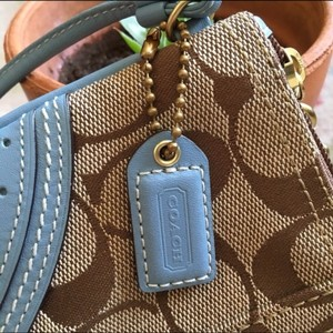 Coach Wristlet in Blue and brown