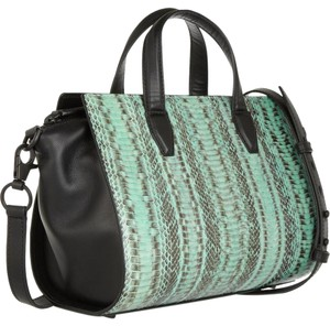 Alexander Wang Pelican Snakeskin Top Handle Exotic Satchel in Mint, Black